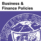 Business and Finance Policies